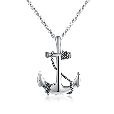 Christlicher-Schmuck-und-Geschenke-Halleluja-Styles-Halskette-Anker-silber