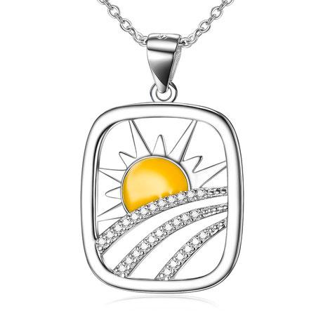 Christlicher-Schmuck-Halleluja-Styles-Halskette-Sonnenuntergang-1