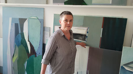 Grit Sauerborn in ihrem Rostocker Atelier
