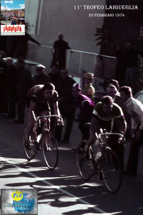 Foto courtesy: Gianni Ardoino, c.rso Badarò il campione d'Italia E.Paolini lancia la volata, ma sarà superato dall'immenso Eddy Merckx.