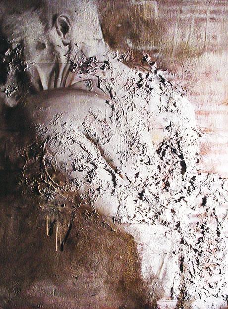 L'uomo / The man (2008) tecnica mista su legno - mixed media on wood, cm (71 x 98)