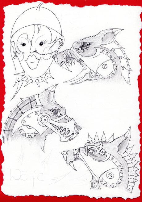 Gothic - Rotkäppchen und der böse Wolf