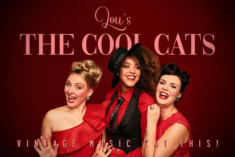 Peggy Sugarhill, Lou Goldstein und Julie Van Hoeven von der Lou's THE COOL CATS Jazz Band