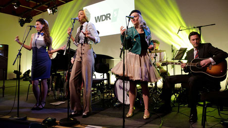 Die Vintage Band Lou's THE COOL CATS beim WDR5 Literatur Marathon in Köln