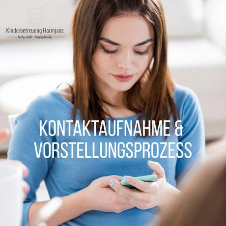 Kinderbetreuung Harmjanz. Kontaktaufnahme und Vorstellungsgespräch.