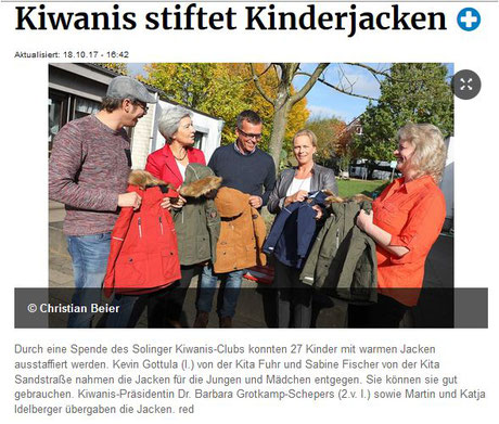 KIWANIS Solingen charity