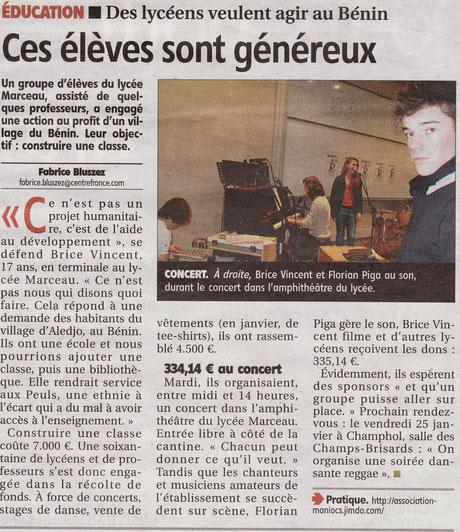 Article paru dans L'Echo le 22 décembre 2012