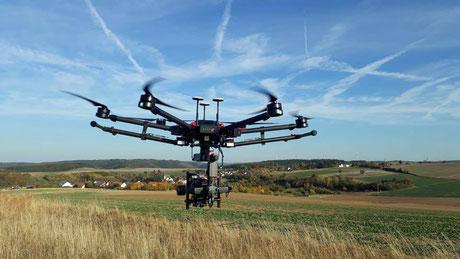 Professionelle Luftaufnahmen mit Drohnen