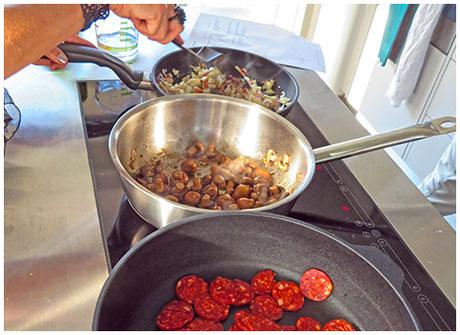 Miteinander kochen –der gesellige Gruppenanlass im Bistro Zeitlos in Mannenbach