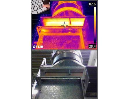 Thermografische Untersuchung einer Heißluftabsaugung IB Klaiber