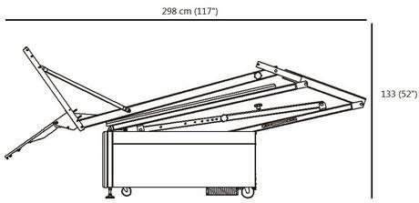 Spalding Fastbreak 960 Storage Position Footprint