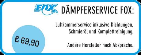 Dämpfer Service Fox