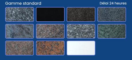 Choisissez votre couleur de granit