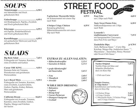 Cafe Leonardo© - Street Food, Soups, Salads & More