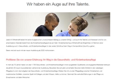 Screenshot Azubi-Website - Texte für HR und Marketing