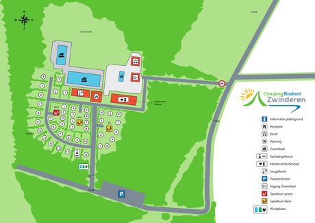 Plattegrond van SVR camping in Drenthe
