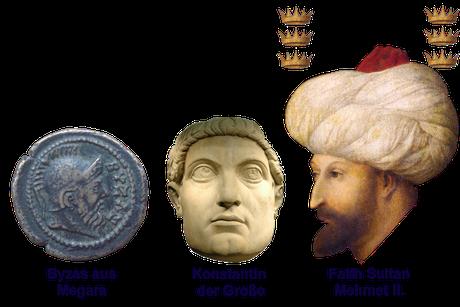 Drei Epochen der Stadt Istanbul; Byzanz, Römisches- u. Osmanisches Imperium