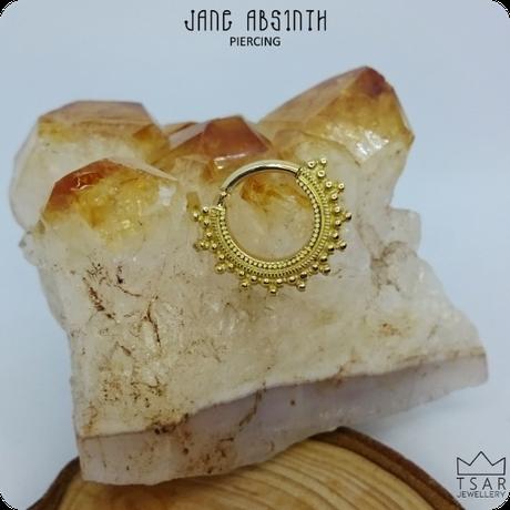 Piercingschmuck aus echtem Gold von Tsar Jewellery für Septum-Piercing