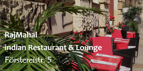 Outdoor seating at RajMahal - indian Restaurant & Lounge (Förstereistr. 5, 01099 Dresden)