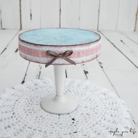"""""""vintage"""" cupcake-ständer aus cd´s..."""