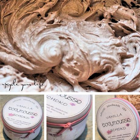 bodymousse vanilla-schoko... stark pflegend durch kakao-,shea-, und mandelbutter...