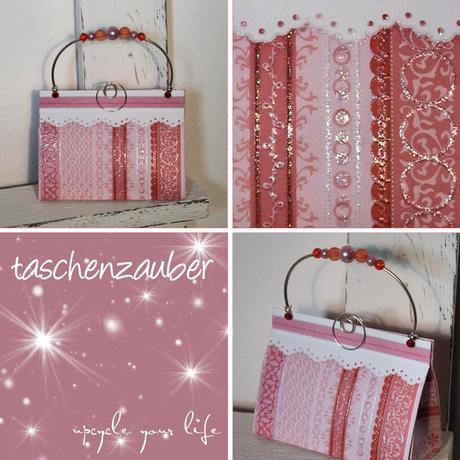 pinkfarbenes glitzertäschchen...