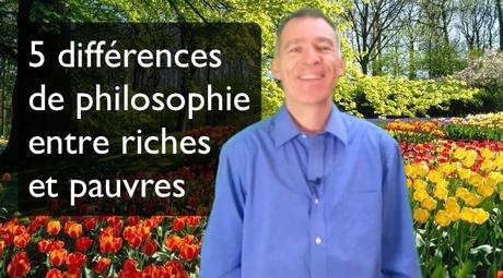 5 différences de philosophie entre riches et pauvres