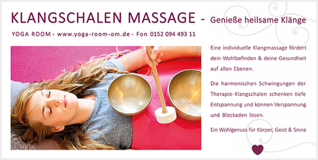 Klangschalen Massage im Yoga Room Chemnitz