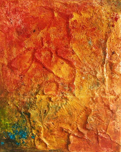 Artigkeit, Claudia Karrasch, Bonn, Abstrakte Malerei, Papier, Spachtelmasse, Acryl, Pigmente, Bäckerseide, auf Leinwand 20 X 40 cm