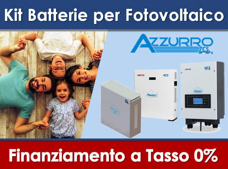 Kit ZCS Azzurro Batteria litiol da 7,2KW per fotovoltaico già esistente prezzo chiavi in mano finanziamento a tasso zero