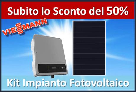 Offerta Kit fotovoltaico tutto incluso prezzo chiavi in mano 3KW sconto in fattura del 50% cessione del credito