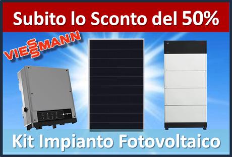 Offerta Kit impianto fotovoltaico tutto incluso prezzo chiavi in mano 4KW con batterie LG Chem 7KW sconto in fattura del 50% cessione del credito