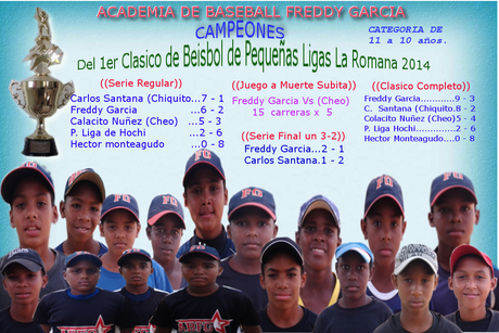 LOS CAMPEONES. Del primer clasico de pequeñas ligas de baseball la romana 2014, en la categoria de 10 a 11 años.