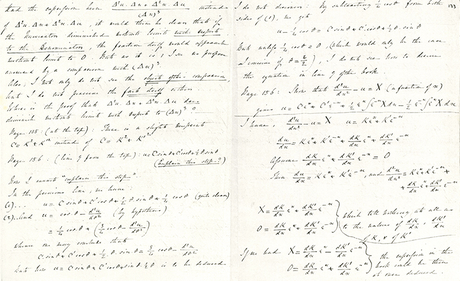 Lettre de Lovelace à De Morgan, à propos du calcul différentiel