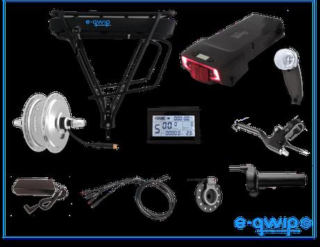 E-qwip Voorwielmotor Ombouwset