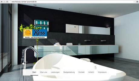 ES-DESIGN Webseite / Ross-Sanitär- und Heizungstechnik