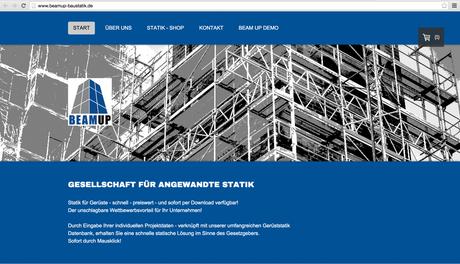 ES-DESIGN Webseite / BEAMUP-Baustatik
