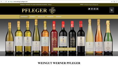 ES-DESIGN Webseite / Weingut Pfleger