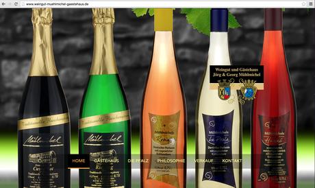 ES-DESIGN Webseite / Weingut und Gästehaus Mühlmichel