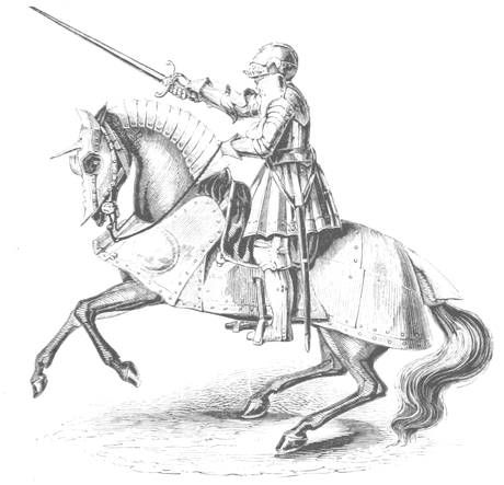 König Henry VIII. in voller Rüstung