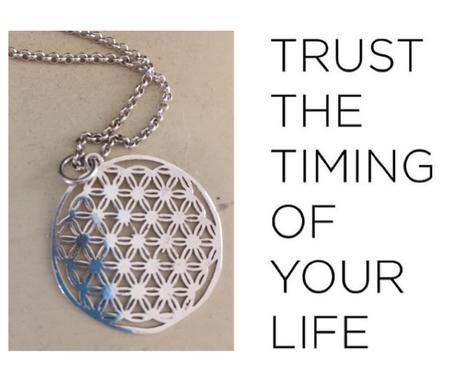 Blume des Lebens - Silberkette
