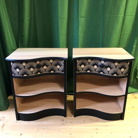Partenariat avec Nomadde, industriel qui utilise du bois recyclé et qui a une collection prête à peindre