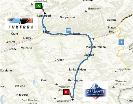 info@taxizermatt.ch Route Leukerbad - Zermatt