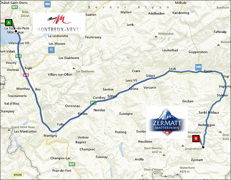 info@taxizermatt.ch Route Montreux - Zermatt