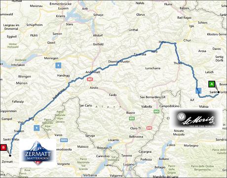 info@taxizermatt.ch Route St. Moritz - Zermatt