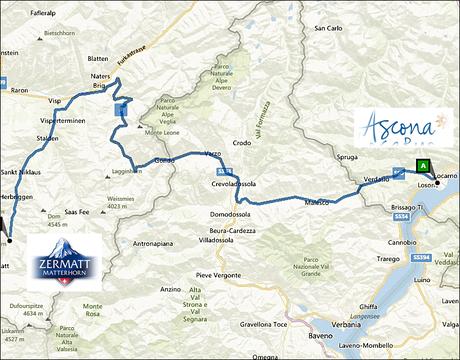 info@taxizermatt.ch Route Ascona - Zermatt