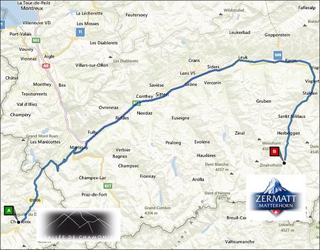 info@taxizermatt.ch Route Chamonix - Zermatt
