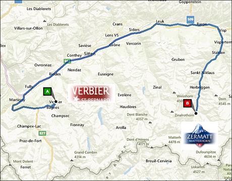 info@taxizermatt.ch Route Verbier - Zermatt