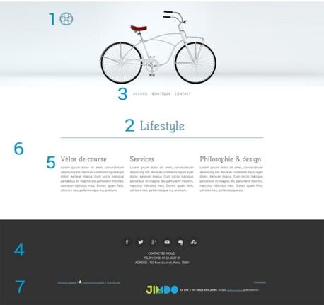 Exemple de design Jimdo