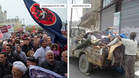 Sondermahnwache für den Frieden - Jugoslawien und Jemen